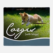 3rd Annual Corgis (with blogs) Calen Throw Blanket