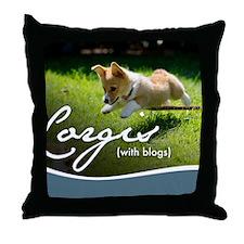 3rd Annual Corgis (with blogs) Calend Throw Pillow