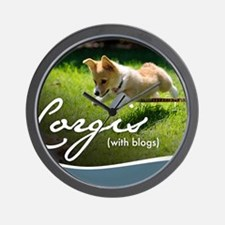 3rd Annual Corgis (with blogs) Calendar Wall Clock