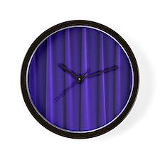 Blue Curtain Wall Clock