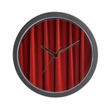 Red Curtain Wall Clock
