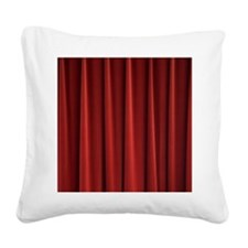 Red Curtain Square Canvas Pillow