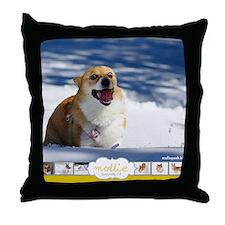 Mollie Corgi Throw Pillow