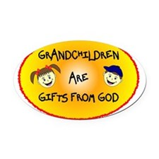 GRANDCHILDREN ARE GIFTS FROM GOD Oval Car Magnet