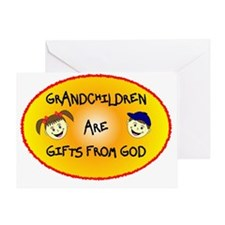 GRANDCHILDREN ARE GIFTS FROM GOD Greeting Card