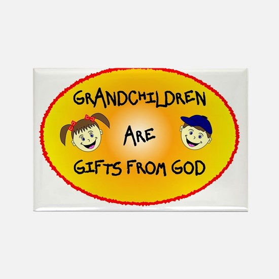 GRANDCHILDREN ARE GIFTS FROM GOD Rectangle Magnet