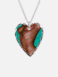 Artwork of naked female torso Necklace Heart Charm