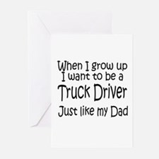 WIGU Trucker Dad Greeting Cards (Pk of 10)