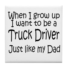 WIGU Trucker Dad Tile Coaster