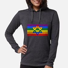 Rainbow Star of David Long Sleeve T-Shirt