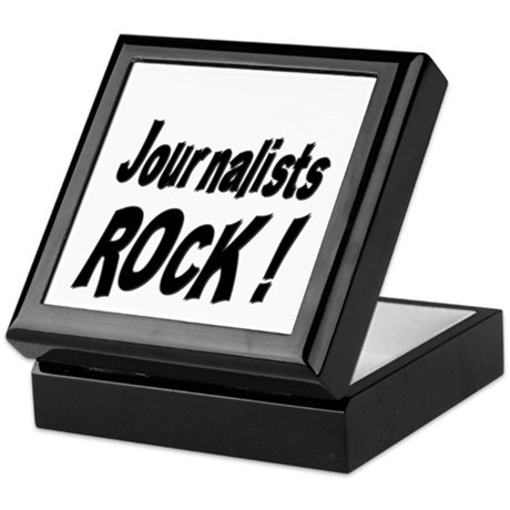 Journalists Rock ! Keepsake Box