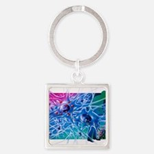 Artwork of Parkinson's disease dru Square Keychain