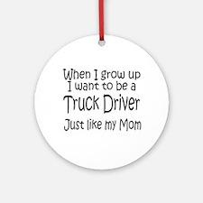 WIGU Trucker Mom Ornament (Round)
