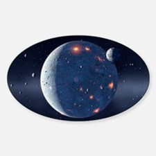 Planetary formation, computer artwo Decal