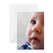 Baby boy's face Greeting Card