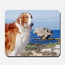 Borzoi Calendar Cover Mousepad