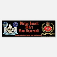 Masonic Badge and Skull Bumper Bumper Bumper Sticker