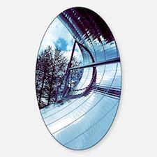 Solar powered water heater Sticker (Oval)