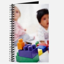 Babies with building blocks Journal