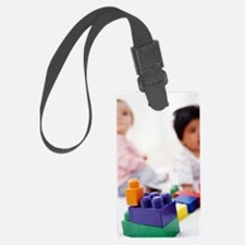 Babies with building blocks Luggage Tag