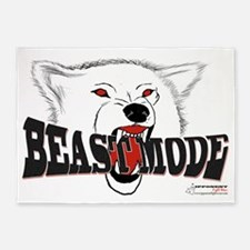Biting Beast Mode 5'x7'Area Rug