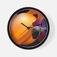 Solar sail spaceship Wall Clock