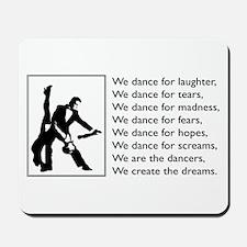 We Dance Logo Mousepad
