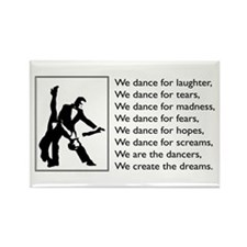 We Dance Logo Rectangle Magnet