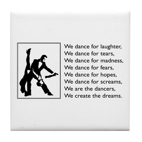 We Dance Logo Tile Coaster