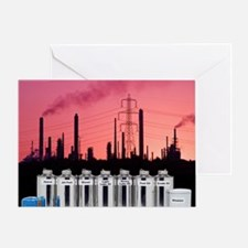 Oil products Greeting Card
