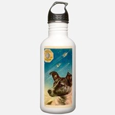 Laika the space dog po Sports Water Bottle