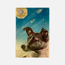 Laika the space dog postcard Rectangle Magnet