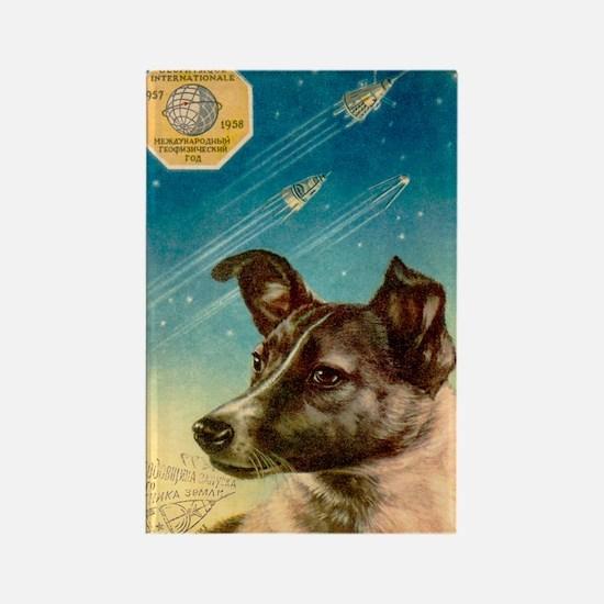 Laika the space dog postcard Rectangle Magnet