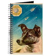 Laika the space dog postcard Journal
