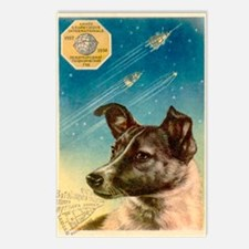 Laika the space dog postc Postcards (Package of 8)
