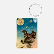 Laika the space dog postca Keychains