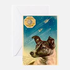 Laika the space dog postcard Greeting Card