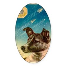 Laika the space dog postcard Decal
