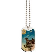 Laika the space dog postcard Dog Tags
