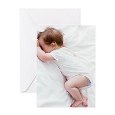 Baby girl sleeping Greeting Card