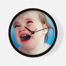 Baby girl's face Wall Clock