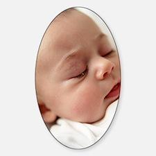 Baby girl sleeping Decal