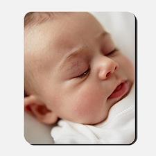 Baby girl sleeping Mousepad