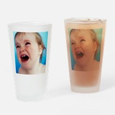 Baby girl's face Drinking Glass