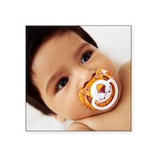 """Baby boy sucking a dummy Square Sticker 3"""" x 3"""""""