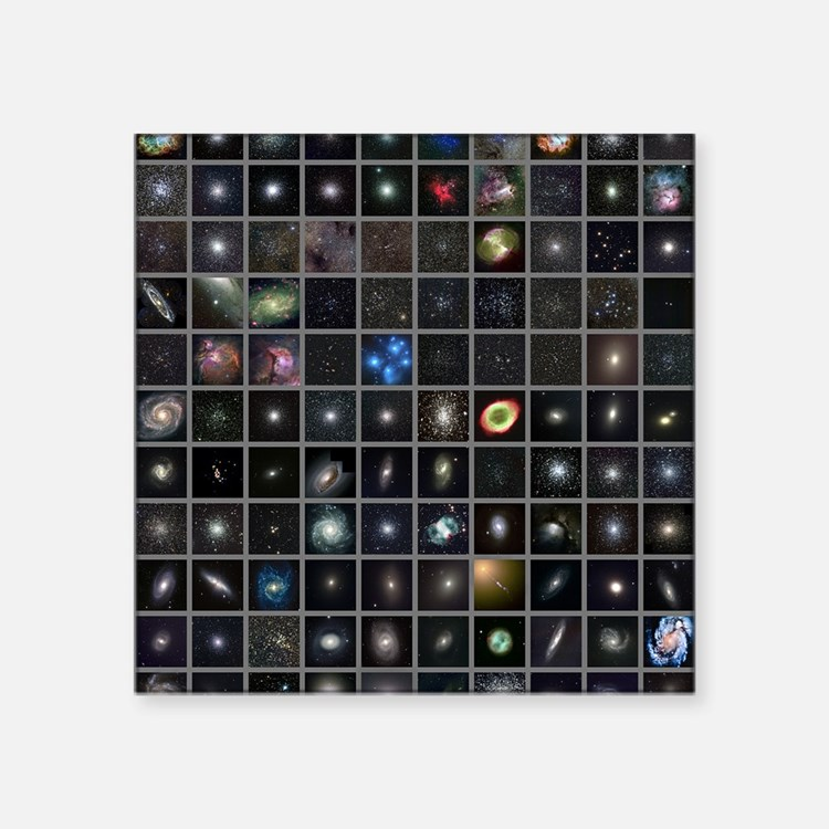 """Messier objects, full set Square Sticker 3"""" x 3"""""""