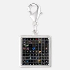 Messier objects, full set Silver Square Charm
