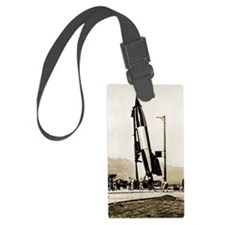 V-2 rocket prior to first US lau Luggage Tag
