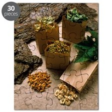 Assortment of herbal teas Puzzle