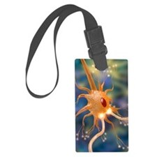 Motor neurone nerve cell and syn Luggage Tag